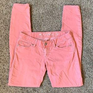 Express Women Jeans Low Rise Jeggings Size 4 Pink